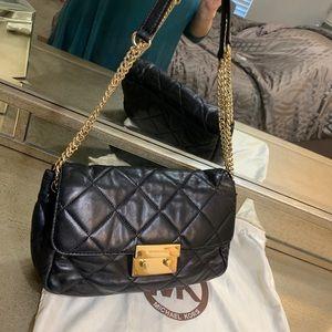 MIchael Kors Sloan black quilted shoulder bag